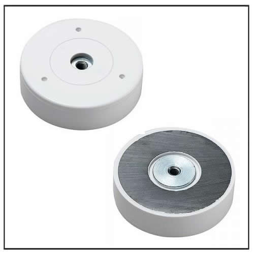 Hard Ferrite Pot Magnet with Plastic Housing and Internal Thread Hole