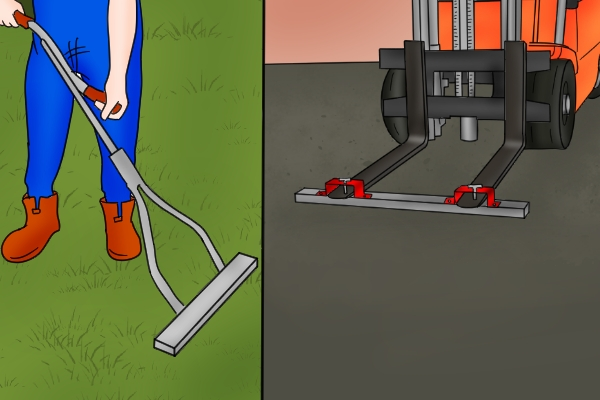 Push magnetic sweeper and forklift magnetic sweeper