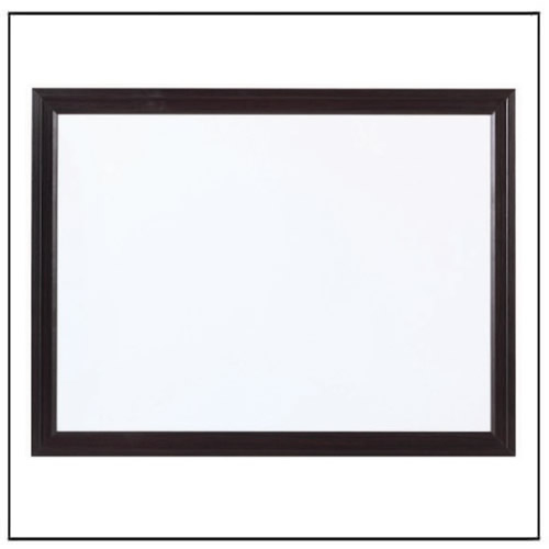Black Wooden Frame Whiteboard