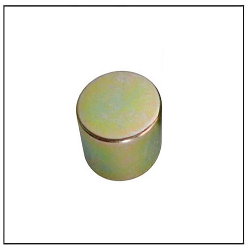 Cylinder Color Zinc Plating NdFeB Magnet