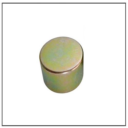 Cylinder Color Zinc Plating NdFeB Magnet