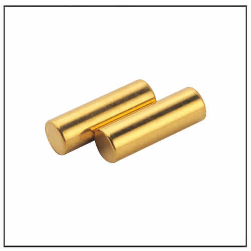 Rod Gold Plated Neodymium Magnets