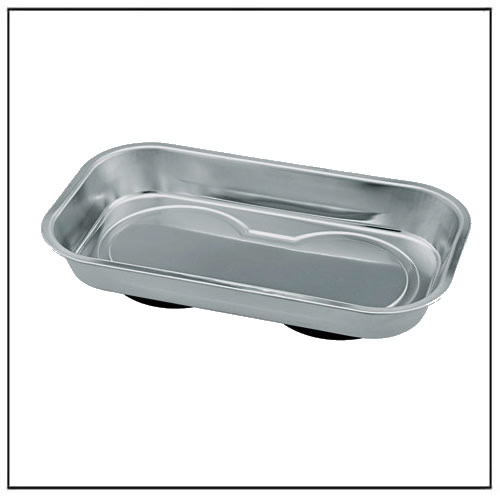 Rectangular Magnetic Stainless Steel Tray