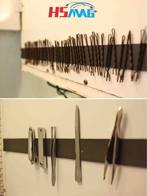 MAGNETIC BATHROOM HACKS