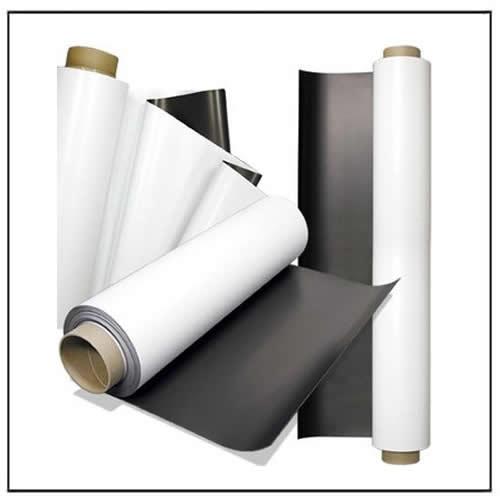 Printable White Vinyl Magnetic Rolls