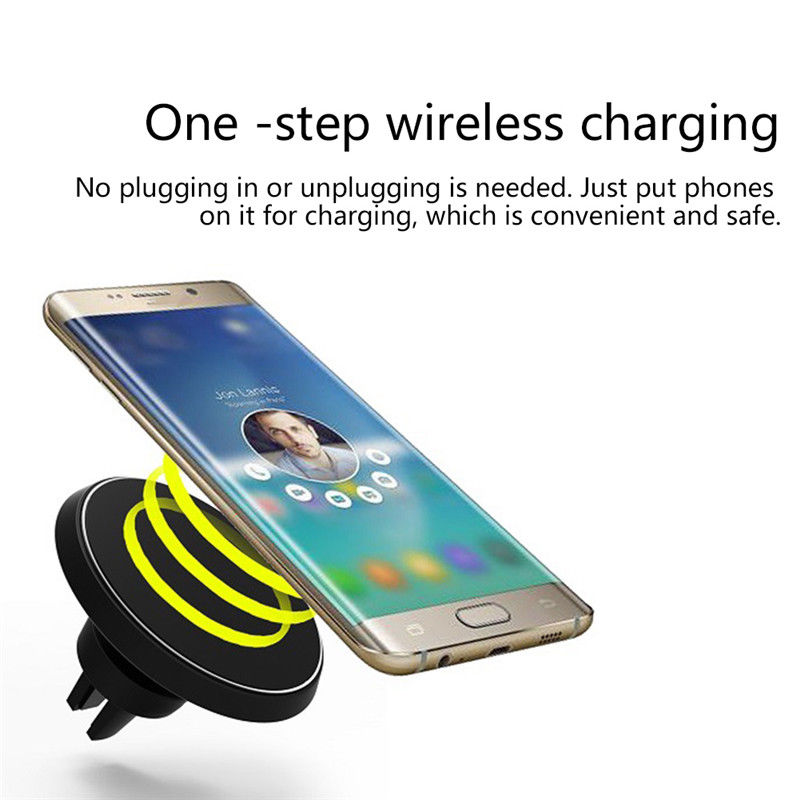 360° Car Magnetic Wireless Charger For Iphone Samsung