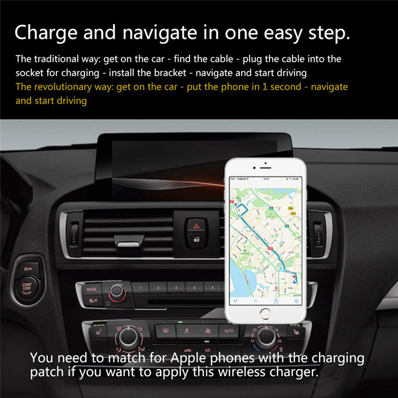 Car Magnetic Wireless Charger Holder For Iphone 8 X Samsung