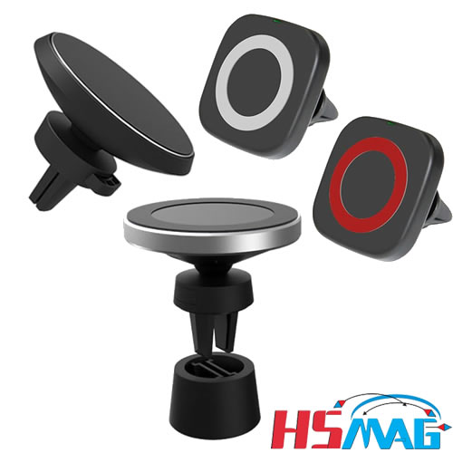 Magnetic wireless charging car phone holder