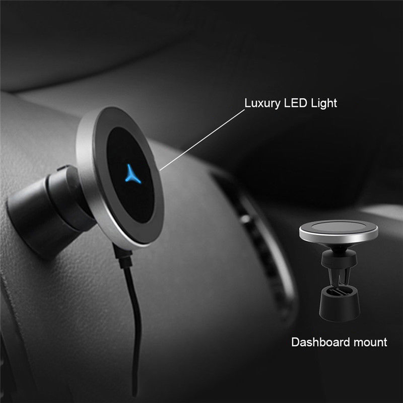 Wireless Magnetic Charger Phone Car Mount Holder