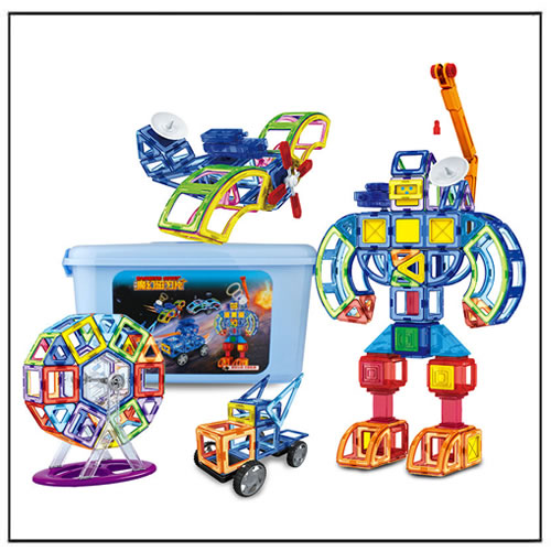 3D Magnetic Toy Construction Set