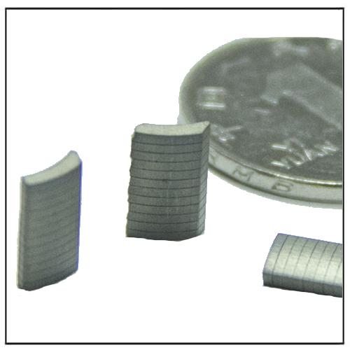 Smallest Micro Arc Segment Laminated Magnets