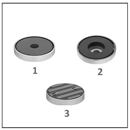 Disc Encased Ceramic Magnets with Unthreaded Hole