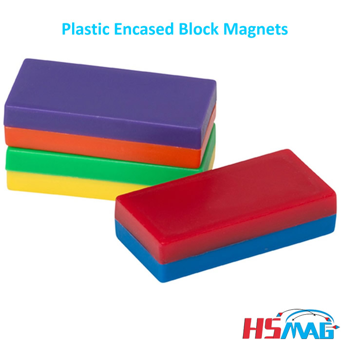 Plastic Encased Block Magnets