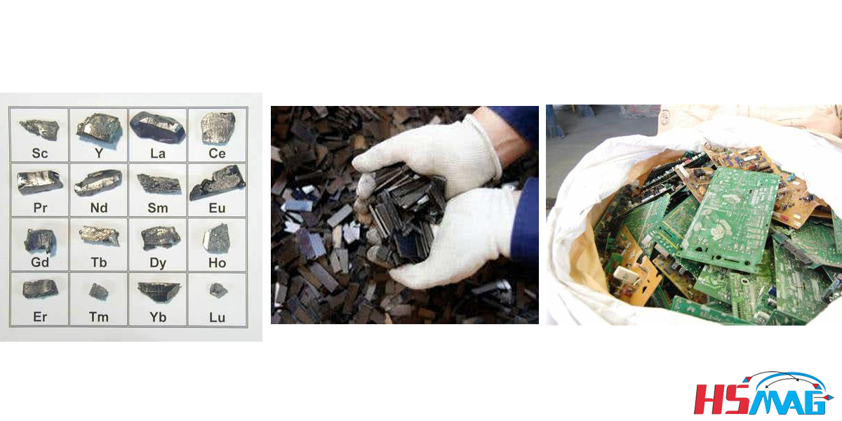 Rare-earth Recycling Magnetic Idea