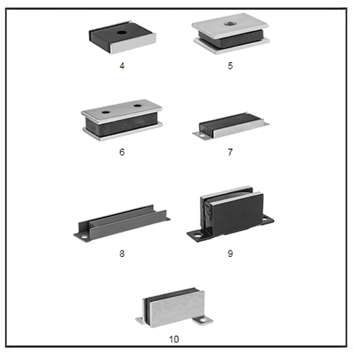 Rectangle Sandwich Encased Ceramic Mounting Magnets
