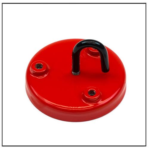 3 M6 Holes Ceramic Limpet Threaded Magnet 76mm