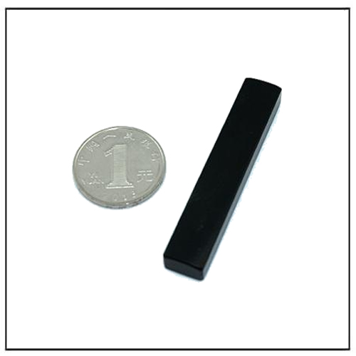 Black Epoxy OEM Dimension Flat Bar Magnet N35 for Japan Customer