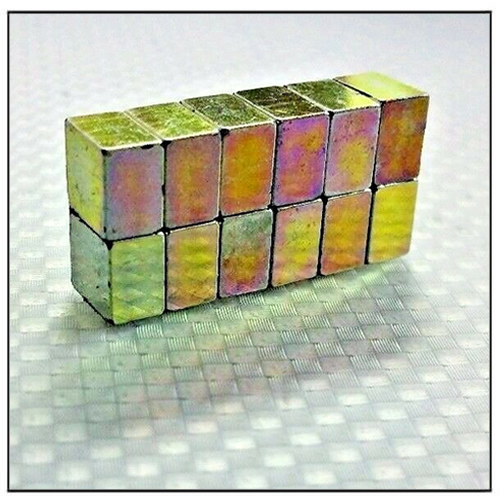 Color Zinc Plated Rare Earth Cube N52 Neodymium Magnets