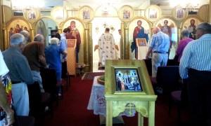 Father serving Liturgy Sept 21