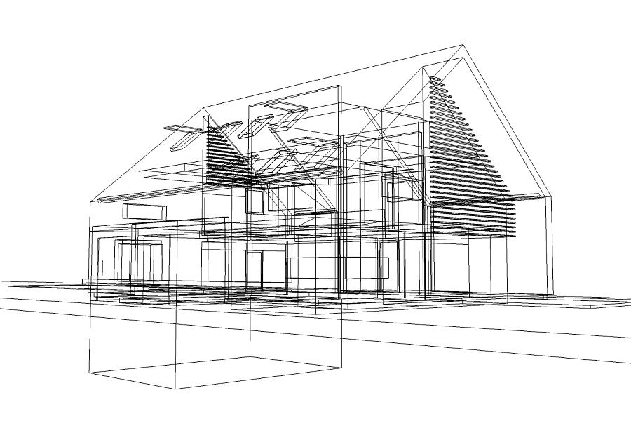 Drahtmodell EFH – hsp.architekten