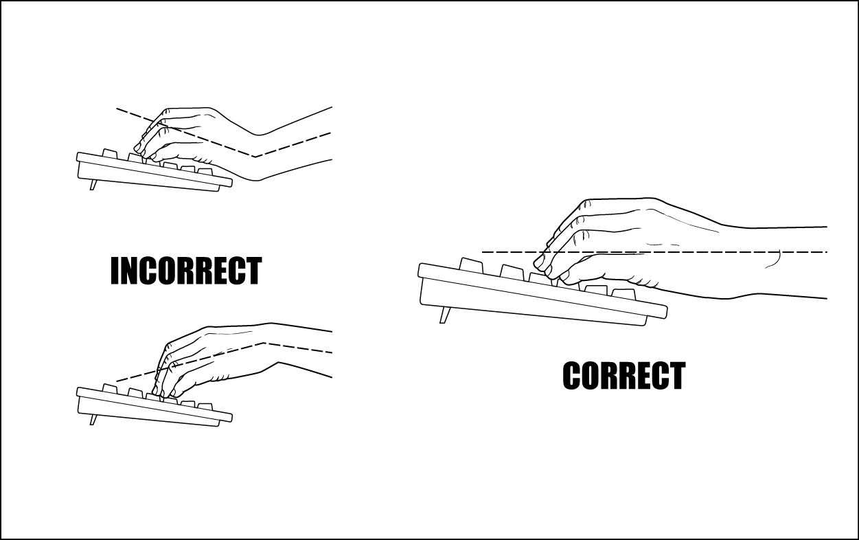 Here S How To Position Your Hands When You Use A Computer