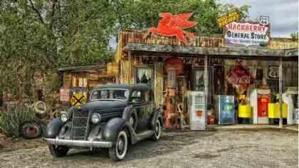 Pompa di benzina sulla Route 66