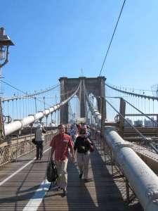 passeggiata pedonale del ponte di Brooklyn