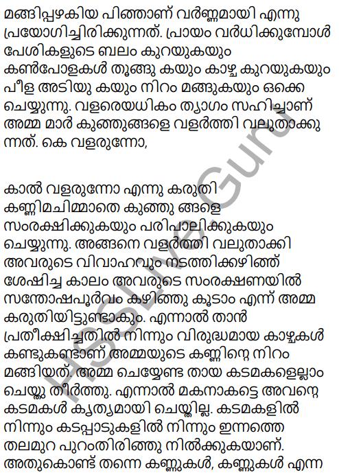 Adisthana Padavali Malayalam Standard 10 Solutions Unit 1 Chapter 3 Ammathottil 22