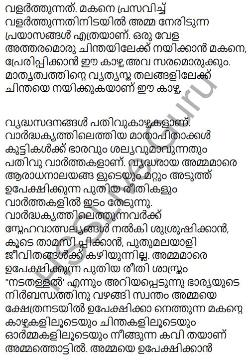 Adisthana Padavali Malayalam Standard 10 Solutions Unit 1 Chapter 3 Ammathottil 34