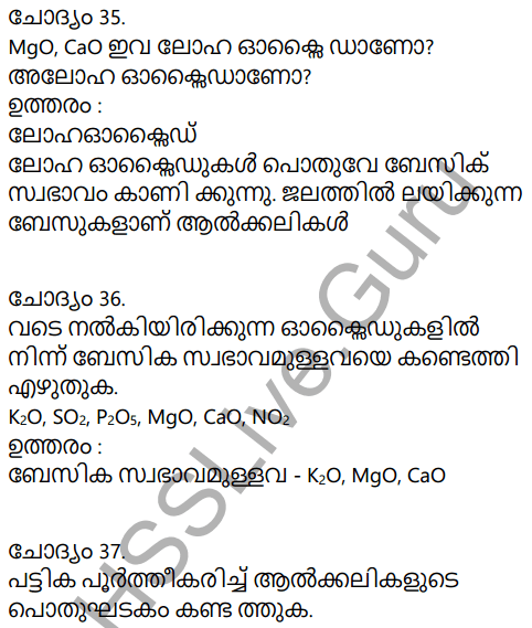 Kerala Syllabus 9th Standard Chemistry Solutions Chapter 5 Acids, Bases, Salts in Malayalam 16