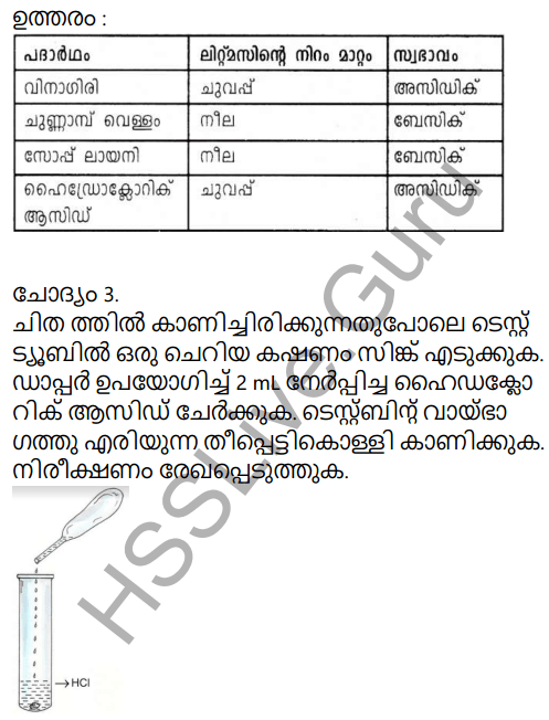 Kerala Syllabus 9th Standard Chemistry Solutions Chapter 5 Acids, Bases, Salts in Malayalam 2