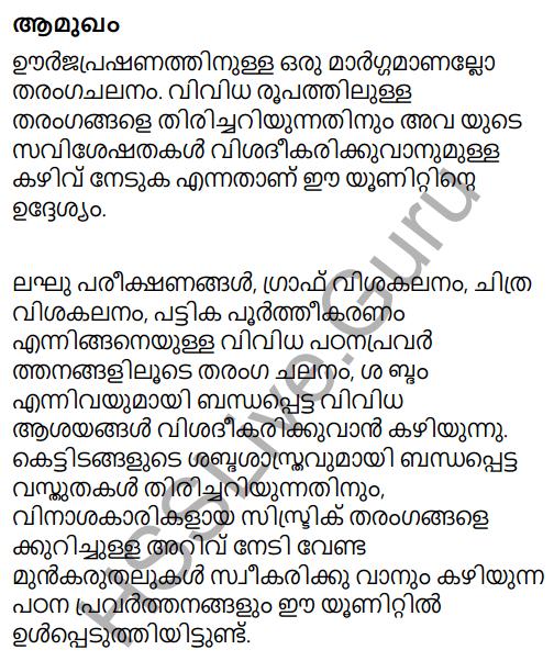 Kerala Syllabus 9th Standard Physics Solutions Chapter 7 Wave Motion in Malayalam 1
