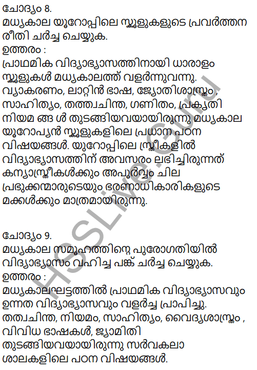 Kerala Syllabus 9th Standard Social Science Solutions Chapter 2 The East and the West Era of Exchanges in Malayalam 6