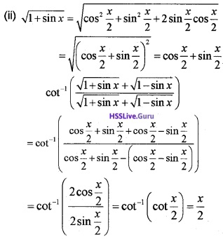 Plus Two Maths Inverse Trigonometric Functions 4 Mark Questions and Answers 32