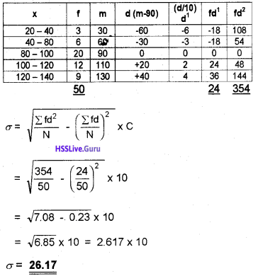 Plus One Economics Chapter Wise Questions and Answers Chapter 6 Measures of Dispersion img6