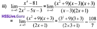 Plus One Maths Limits and Derivatives Three Mark Questions and Answers 33