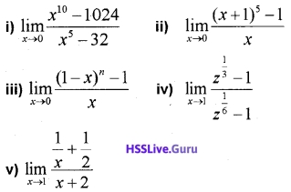 Plus One Maths Limits and Derivatives Three Mark Questions and Answers 5