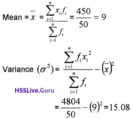Plus One Maths Statistics Three Mark Questions and Answers 35