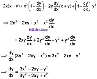 Plus Two Maths Continuity and Differentiability 3 Mark Questions and Answers 18