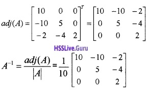 Plus Two Maths Determinants 4 Mark Questions and Answers 32