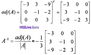 Plus Two Maths Determinants 4 Mark Questions and Answers 33