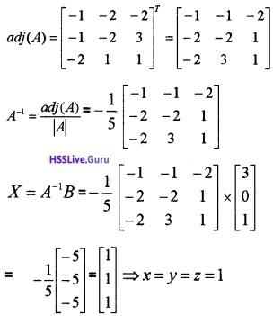Plus Two Maths Determinants 4 Mark Questions and Answers 47