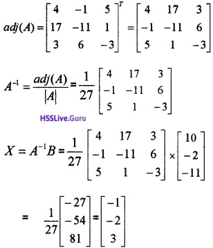 Plus Two Maths Determinants 4 Mark Questions and Answers 50