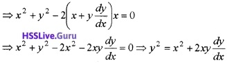 Plus Two Maths Differential Equations 3 Mark Questions and Answers 13