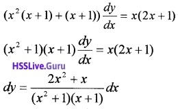 Plus Two Maths Differential Equations 3 Mark Questions and Answers 14