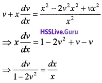Plus Two Maths Differential Equations 3 Mark Questions and Answers 26