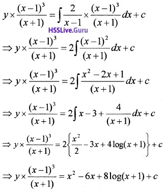 Plus Two Maths Differential Equations 3 Mark Questions and Answers 37
