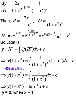 Plus Two Maths Differential Equations 3 Mark Questions and Answers 38