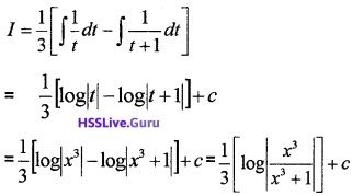 Plus Two Maths Integrals 3 Mark Questions and Answers 34