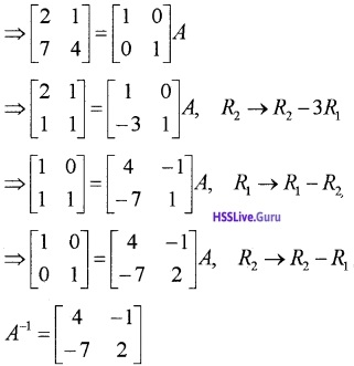 Plus Two Maths Matrices 3 Mark Questions and Answers 11